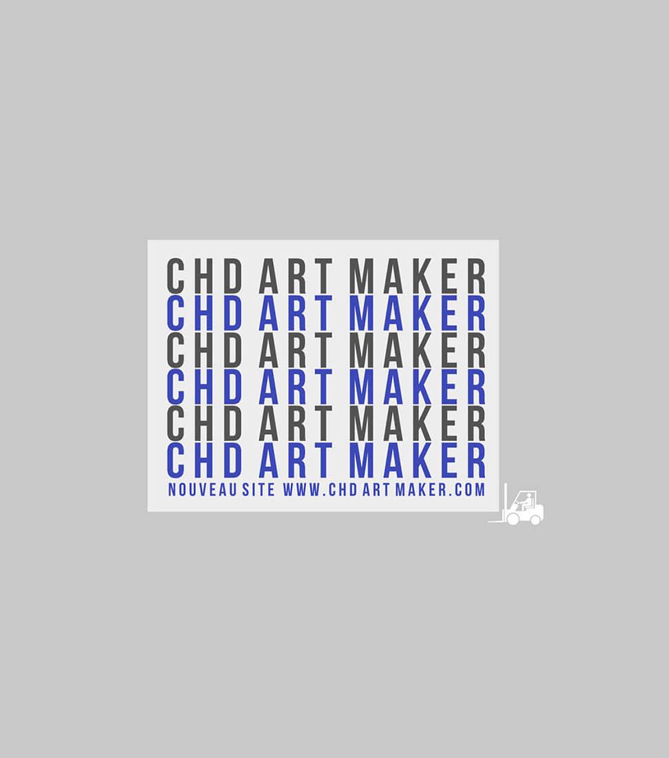 « c.H-D art production » devient « CHD ART MAKER » et fait évoluer son identité visuelle. Nouveau logo, nouveau nom, nouvelle identité.